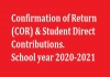 Confirmation of Return - COR 2020/2021